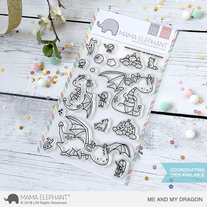 Mama Elephant 4x6 Photopolymer Stamp Me And My Dragon