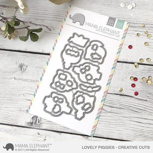 Mama Elephant Creative Cuts Lovely Piggies
