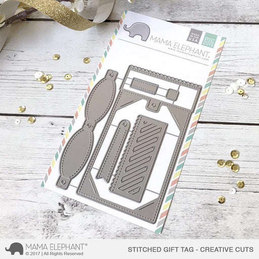 Mama Elephant Creative Cuts Stitched Gift Tag