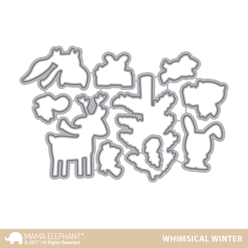 Mama Elephant Creative Cuts Whimsical Winter