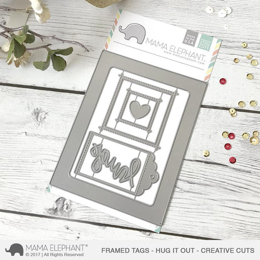 Mama Elephant Creative Cuts Framed Tags Hug It Out