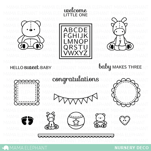 "Mama Elephant 4"" x 6"" Photopolymer Clear Stamps Nursery Deco 