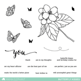 "Mama Elephant 4"" x 6"" Photopolymer Clear Stamps Butterfly Kisses 