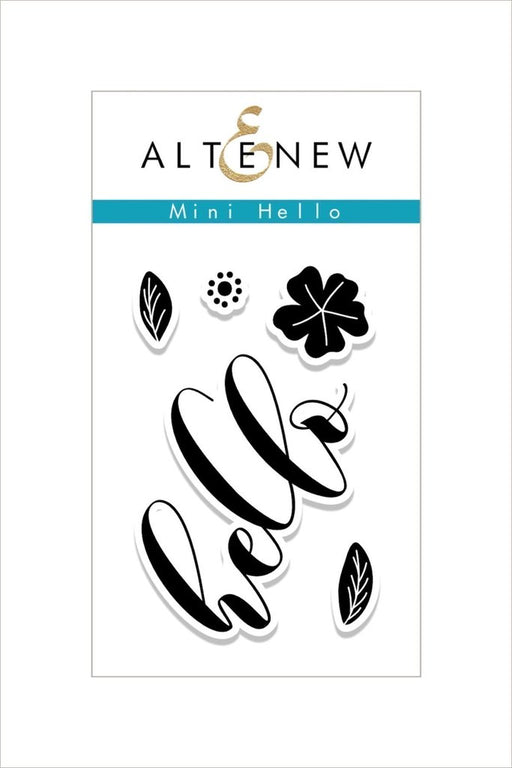 "Altenew 2"" x 3"" Clear Stamp Mini Hello"