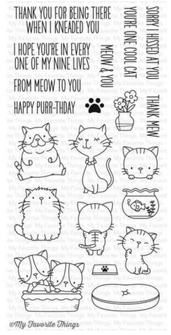 "My Favorite Things Clear Stamp Birdie Brown 4"" x 8"" Cool Cat BB33 