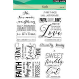 "Penny Black Clear Stamps 5""X7"" Faith PB30409"