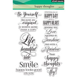 "Penny Black Clear Stamps 5""X7"" Happy Thoughts PB30416"