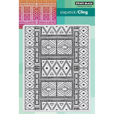 "Penny Black Cling Stamps 5""X7"" Mosaic Pattern PB40563"