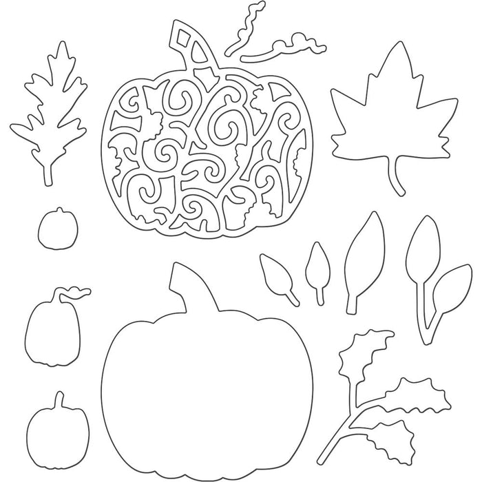 Penny Black Creative Dies Pumpkins & Leaves 51360