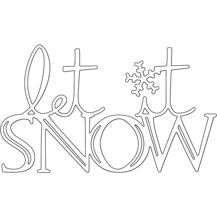 Penny Black Creative Dies Snow Wishes 51082
