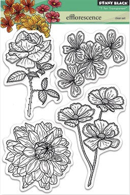 "Penny Black Transparent Clear Stamp 4"" x 6"" Efflorescence 30-282 