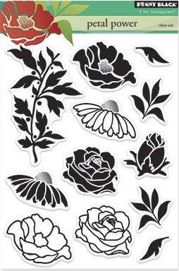 "Penny Black Transparent Clear Stamp 4"" x 6"" Petal Power 30-225 