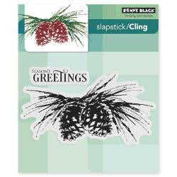 "Penny Black Cling Stamp 5"" x 7"" Brush Pines PB40408 