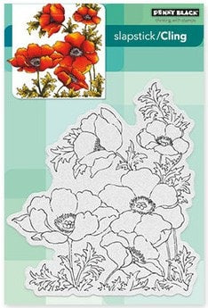 Penny Black Cling Stamp Poppy Gems 40-447 | Maple Treehouse