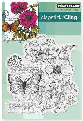 Penny Black Slapstick Cling Stamp Botanical Notes 40-276 | Maple Treehouse