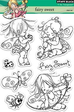 "Penny Black Transparent Clear Stamp 4"" x 6"" Fairy Sweet 30-151 