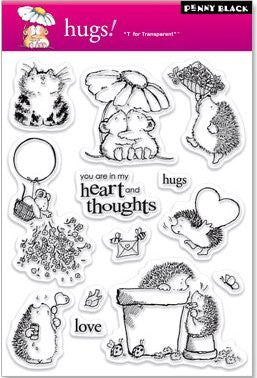 "Penny Black Transparent Clear Stamp 4"" x 6"" Hugs! 30-020 