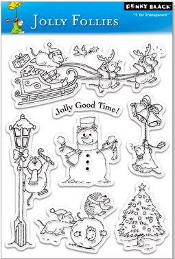 "Penny Black Transparent Clear Stamp 4"" x 6"" Jolly Follies 30-038 
