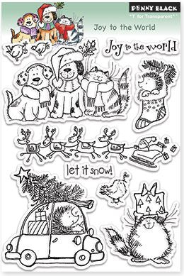 "Penny Black Transparent Clear Stamp 4"" x 6"" Joy To The World 30-143 