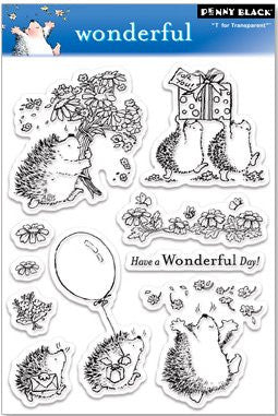 "Penny Black Transparent Clear Stamp 4"" x 6"" Wonderful 30-029 