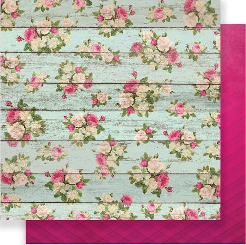 "Pink Paislee C'est La Vie Double-Sided Cardstock 12"" x 12"" #5 CLVPP 10109 