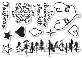 Poppy Stamp Clear Stamp Dreaming of a White Christmas CL442 | Maple Treehouse