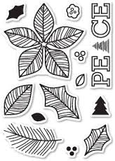 Poppy Stamp Clear Stamp Poinsettia Peace CL440 | Maple Treehouse