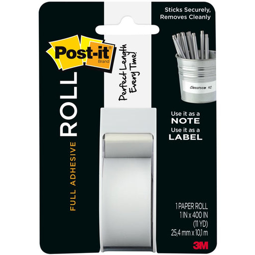 "3M Post-It Full Adhesive Roll 1""X400"" White 2650 W"