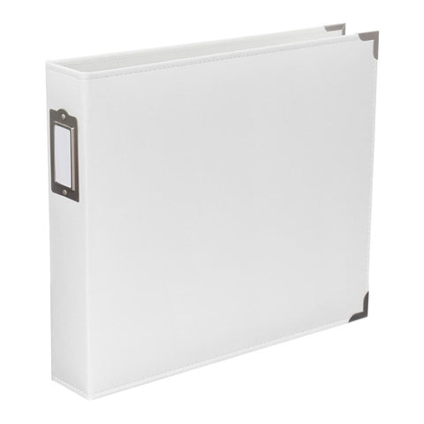 "Project Life Classic Faux Leather D-Ring Album 12"" x 12"" White 380401 