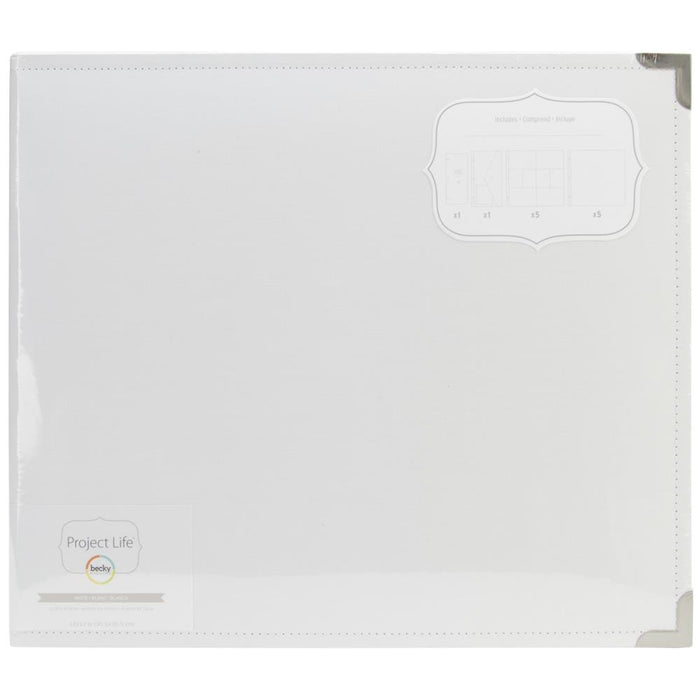 "Project Life Cloth D-Ring Album 12"" x 12"" White 380191 