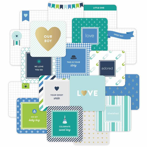 "Project Life Die-Cut Card Pack 4"" x 4"" 12/Pkg Baby Boy Edition 380544 