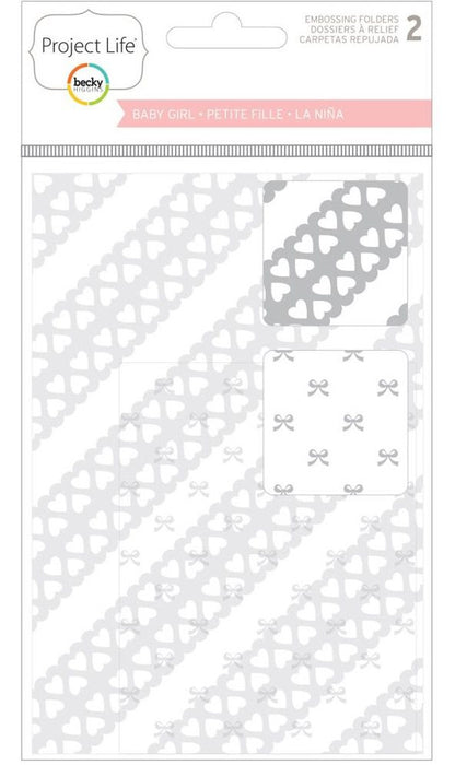 Project Life Embossing Folders 2-Pkg Baby Girl Edition 380523 | Maple Treehouse