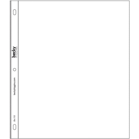 "Project Life Page Protectors - Vertical 8"" x 10"" 12/Pkg 380021 