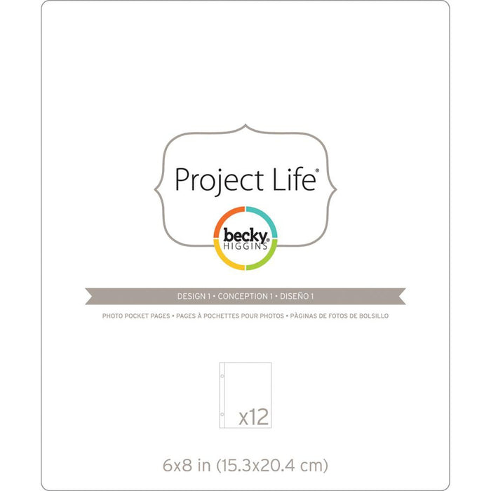 "Project Life Photo Pocket Pages 6"" x 8"" 12/Pkg Design 1 380289 