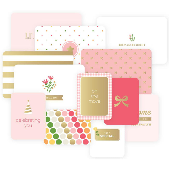 Project Life Specialty Foil Card Pack 12/Pkg Baby Girl Edition 380527 | Maple Treehouse