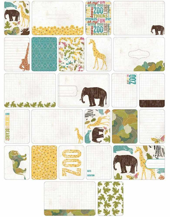 Project Life Themed Cards 40/Pkg Zoo 380256 | Maple Treehouse