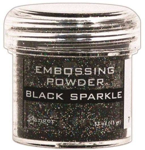 Ranger Embossing Powder 1oz Jar Black Sparkle EPJ 37460 | Maple Treehouse