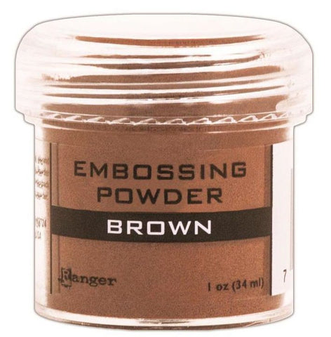 Ranger Embossing Powder 1oz Jar Brown EPJ 36555 | Maple Treehouse