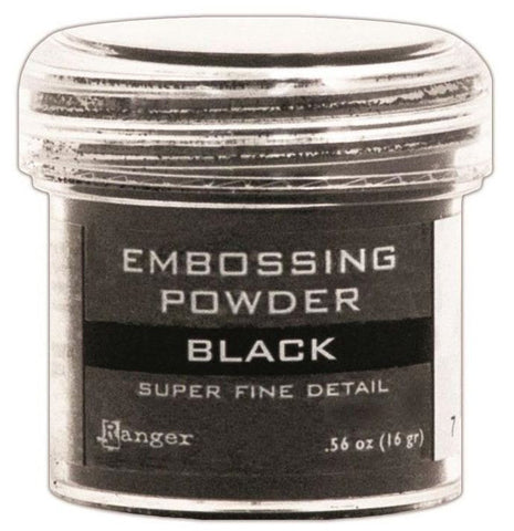 Ranger Embossing Powder 1oz Jar Super Fine Black EPJ 37392 | Maple Treehouse