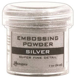 Ranger Embossing Powder 1oz Jar Super Fine Silver EPJ 37415 | Maple Treehouse