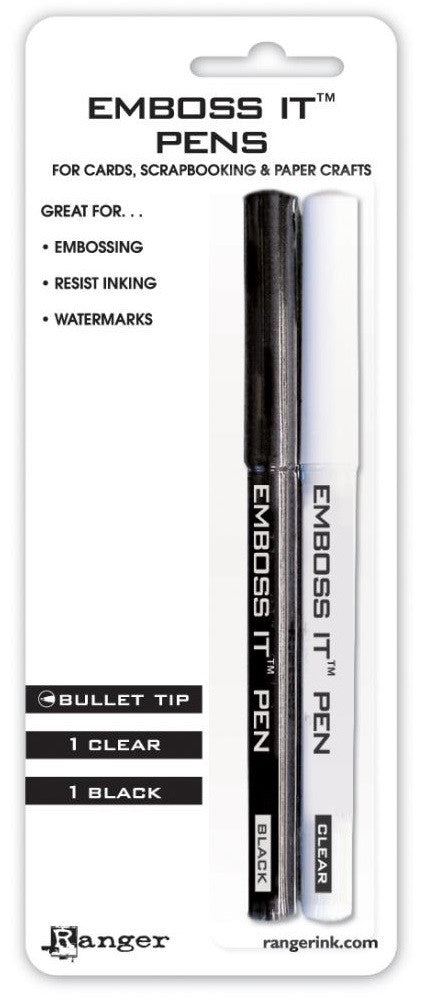 Ranger Inkssentials Emboss It Pens 2/Pkg Black & Clear EMP20653 | Maple Treehouse