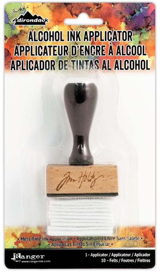 Ranger Tim Holtz Adirondack Alcohol Ink Applicator Stamp Handle With 10 Felts TIM20745 | Maple Treehouse