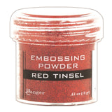 Ranger Embossing Powder 1oz Jar Red Tinsel EPJ 41061 | Maple Treehouse