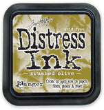 Ranger Tim Holtz Distress Ink Pad Crushed Olive DIS 27126 | Maple Treehouse