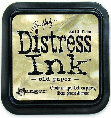 Ranger Tim Holtz Distress Ink Pad Old Paper DIS 19503 | Maple Treehouse