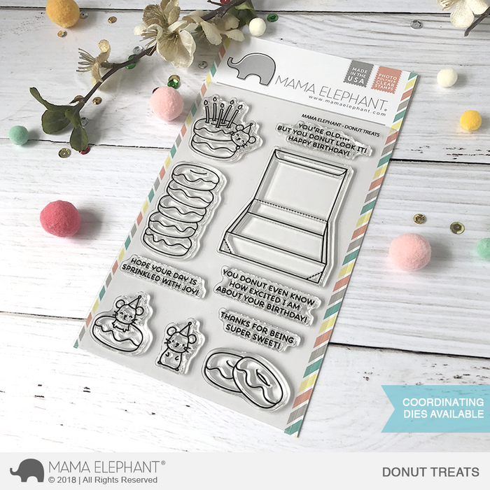 Mama Elephant 4x6 Photopolymer Stamp Donut Treats
