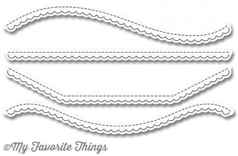 My Favorite Things Die-namics Stitched Scallop Basic Edges 2 MFT-1015 | Maple Treehouse