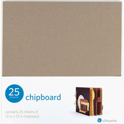 "Silhouette Chipboard 12"" x 12"" 25/Pkg SILCHIP 