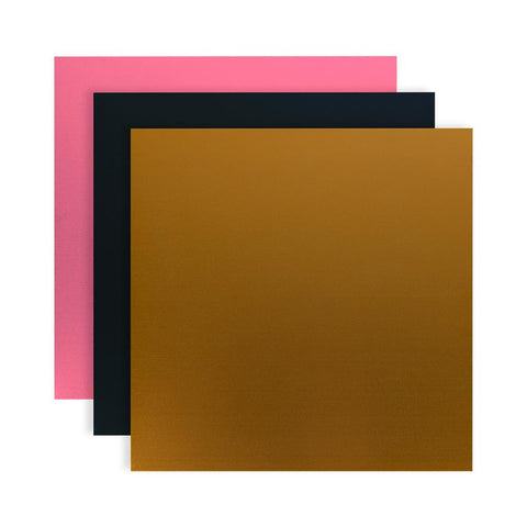 "Silhouette Curio Metal Etching Sheets 5"" X 7"" 3/Pkg Black, Gold, Pink CURIOMET 