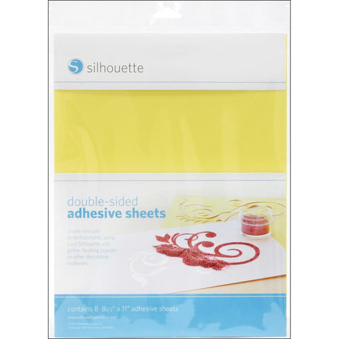 "Silhouette Double-Sided Adhesive Sheets 8.5"" x 11"" 8/Pkg MEDIAA 